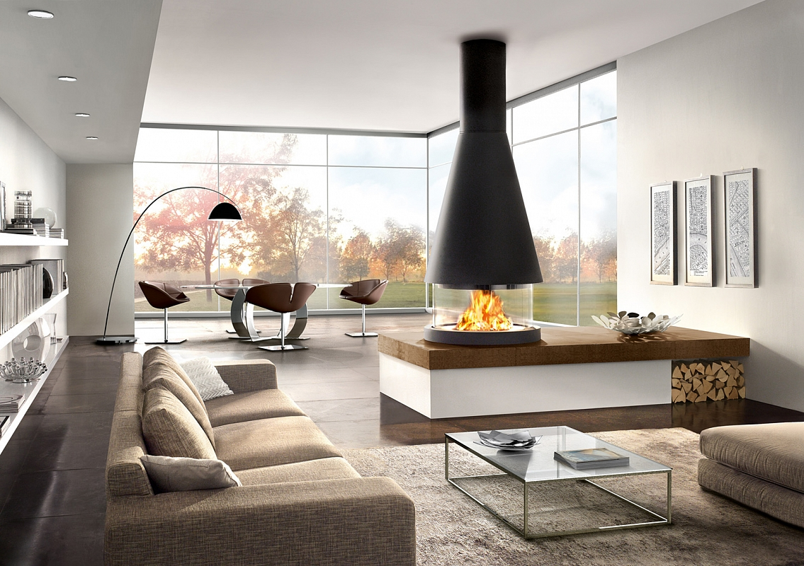 Amusing Modern Fireplace Living Room Design Architecture