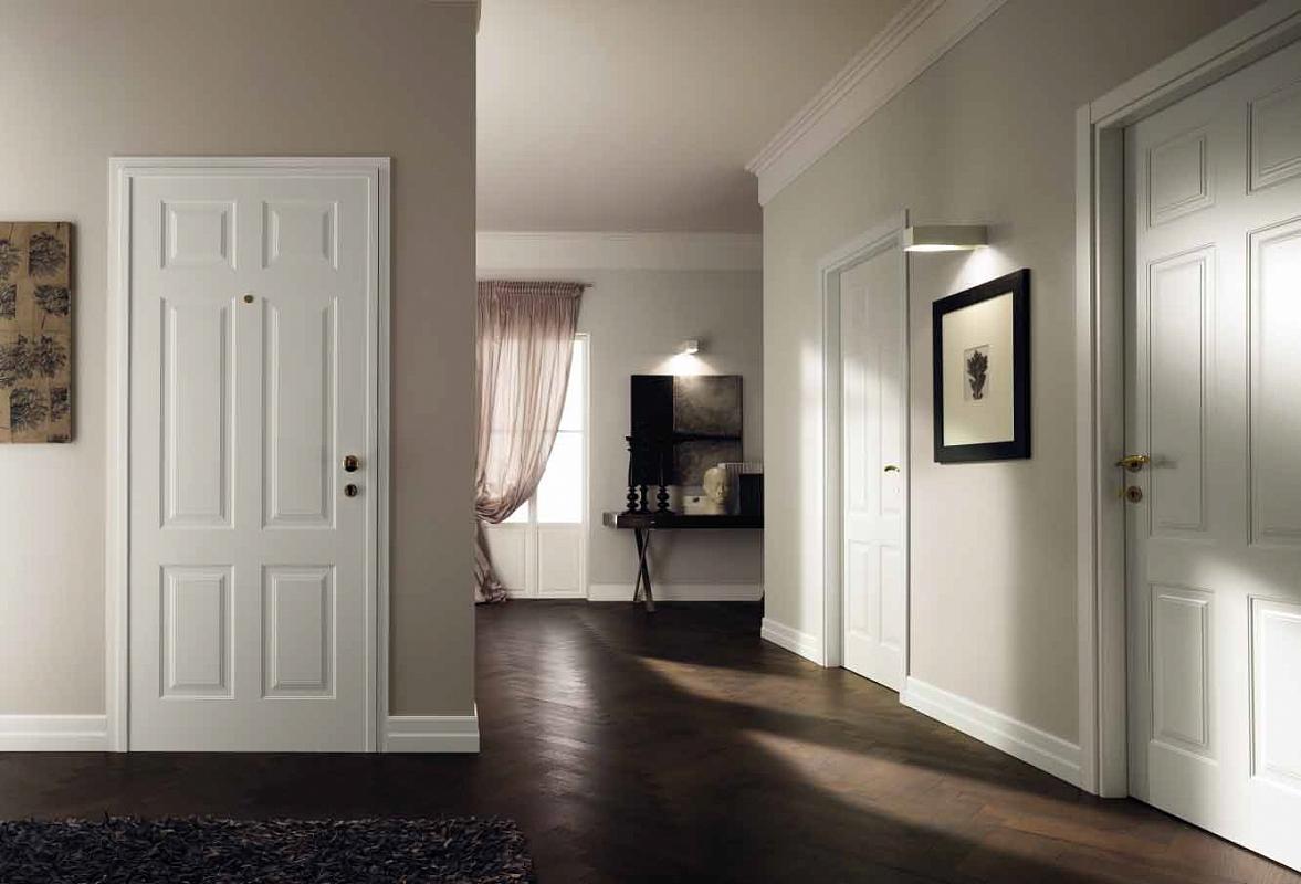 Фото интерьер белые двери