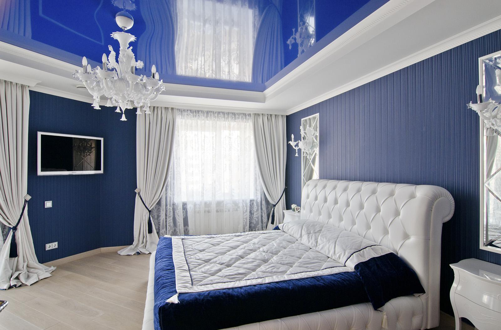 Синяя спальня фото