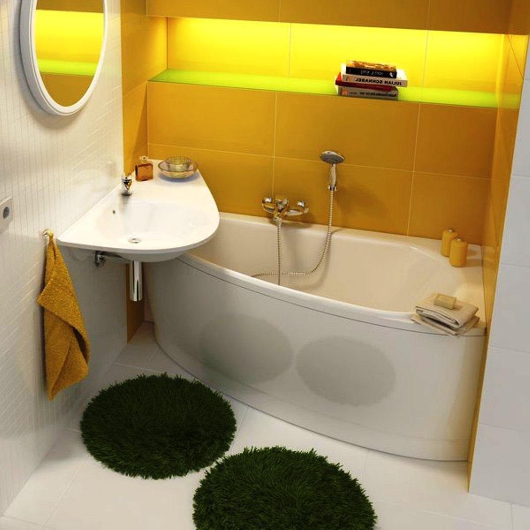 Ассиметричные ванны в интерьере фото
